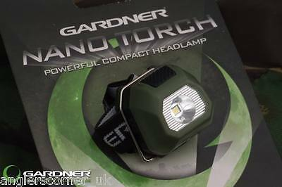 Gardner Nano Head Torch / Carp Fishing • 7.99£