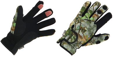 Neoprene Camo Gloves Folding Fingers, Fishing - Shooting - Hunting - M L XL  NGT • 7.48£