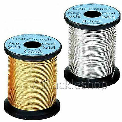 Veniard Uni FRENCH OVAL TINSEL Fly Tying Tinsel Gold Or Silver • 5.25£