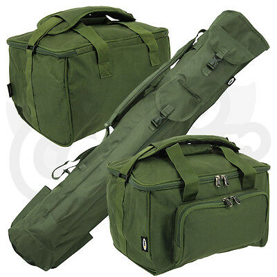 Carp Coarse Fishing Luggage Set Quiver Rod Holdall & Deluxe Padded Carryall • 41.95£