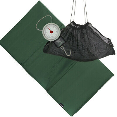 Carp Coarse & Pike Fishing Care Unhooking Mat Set With Weighing Sling & Scales • 18.95£