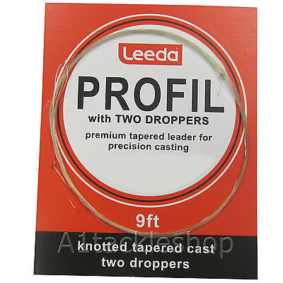 Leeda Profil Leader Casts With Droppers For Trout Fly Fishing • 2.89£
