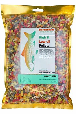 Mixed High & Low Oil Feed Pellets For Carp And Coarse Fishing All Season 5mm • 6.99£
