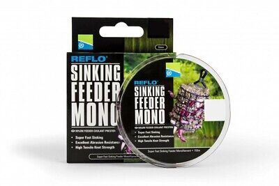 Preston Innovations Reflo Sinking Feeder Mono Line Carp Fishing 0.18 - 0.26mm • 6.99£