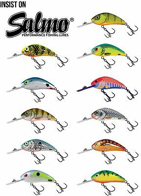 Salmo Rattlin' Hornet Floating Crankbait 4.5cm / Perch Pike Lure Plug • 8.49£
