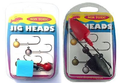 Dinsmores Non Toxic Jig Heads / Fishing Lure / Soft Plastic • 3£