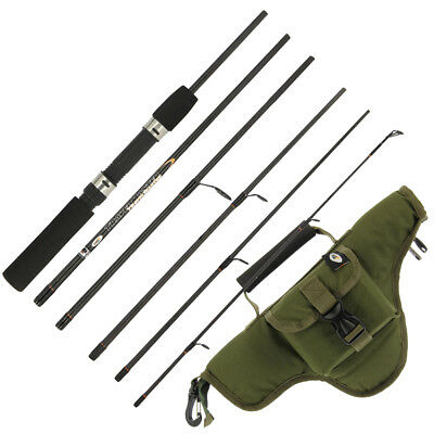 NGT Travelmaster 6ft 6pc Carbon Fibre Coarse Fishing Travel Rod + Optional Case • 18.57£