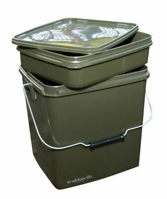 Trakker 13 Ltr Olive Square Container Inc Tray / Carp Fishing • 13.99£