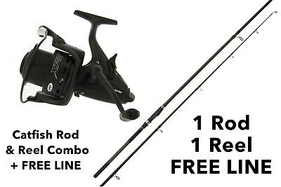 NGT Dynamic Catfish Rod & XPR 60 Baitrunner Reel Combo + Free Line & Delivery • 74.99£