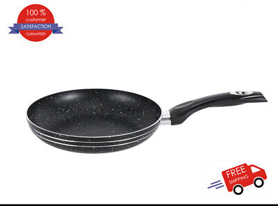 Granite Marble Coated NON STICK Frying Pan For Gas, Electric & Induction Hob • 12.99£