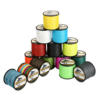 4 Stands 300M PE Braided Fishing Line Hercules Extreme Smooth Stealth Super • 9.99£