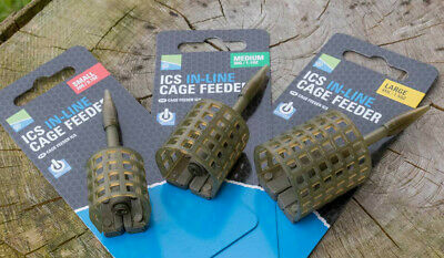 Preston ICS In-line Cage Feeder Assorted Sizes Fishing Terminal Tackle • 3.75£