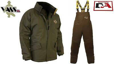 Vass 175 Winter Linned Jacket And Bib And Brace Khaki Green All Sizes • 71.99£