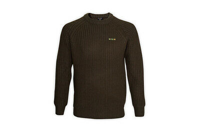 ESP Terry Hearn Old Gold Heavy Knit Fishing Jumper NEW   • 34.95£