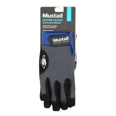 Mustad Casting Gloves - Carp Pike Coarse Bass GT Sea Lure Fishing Tackle • 15.40£