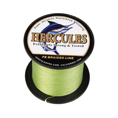 Army Green PE Braided Fishing Line Hercules Extreme Mainline 6-100lbs 330 Yards • 17.19£