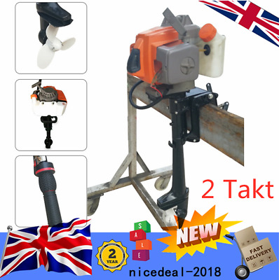 2 Stroke Outboard Motor 4HP Fishing Boat Engine Air Cooling System Heavy Duty UK • 150£