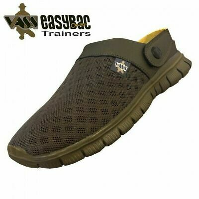 Vass 'Easy-Bac' Khaki Fishing Trainer Sleepers Sliders Shoes - Carp Fishing *New • 32.98£
