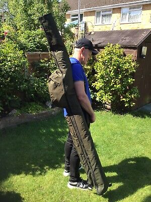 2x2 4 ROD AND REEL HOLDALL BAG CARP COARSE FISHING 2 TACKLE MADE UP RODS X2 • 22.99£