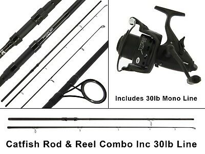NGT Profiler Catfish Rod And XPR Free Spool Reel + 30lb Mono - Free Delivery • 74.99£