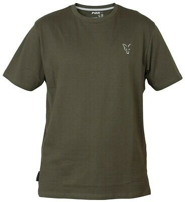 Fox Carp Fishing Clothing - Green & Silver Collection T Shirts - All Sizes • 15.99£