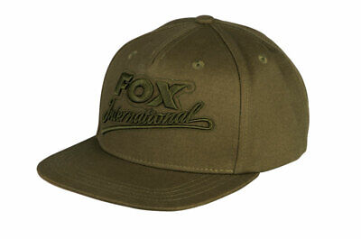 Fox Carp Fishing Head Wear Range - Khaki College Snap Back Cap • 16.99£