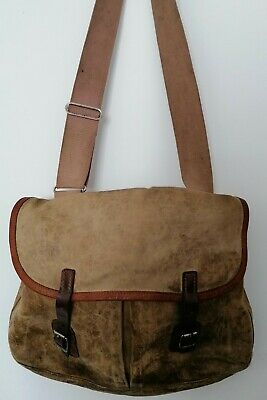 Vintage Fly Fishing / Game Canvas & Leather Bag By Brady Of Halesowen • 10.50£