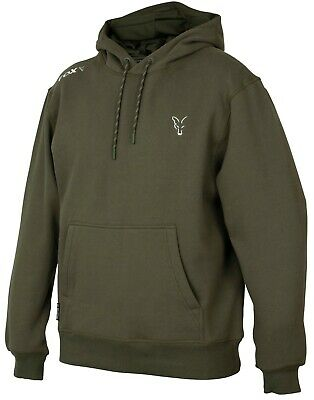 Fox Carp Fishing Clothing - Green & Silver Collection Hoody - All Sizes • 34.99£