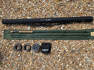 Greys GRX Rod, Reel And 3 Lines 9ft 6 #6 #7 Fly Fishing Outfit. • 94£
