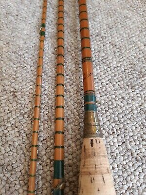 Vintage Allcock 3 Piece Split Cane Fly Fishing Rod The Conquerer ?? • 19.99£