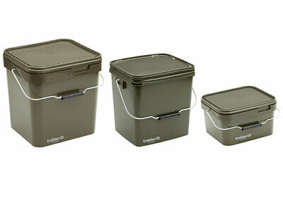 Trakker Olive Square Container Bucket 5L / 13L Inc Tray / 17L Incl Tray  *New* • 8.98£