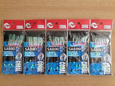 Sabiki Rig High Carbon Hooks Sand Eel,joey,sardine, Hook Sizes 8 10 12 14 16. • 5.15£