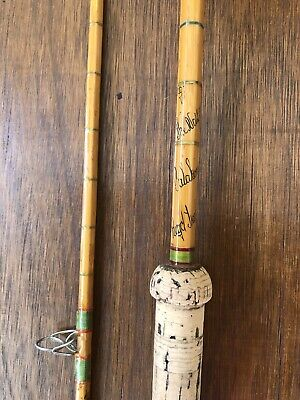 Hardy LRH No.1 Split Cane Salmon Spinning/Carp Rod. 2 Of 2. Golden Scale Club • 69£