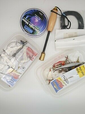 Job Lot Fishing Spinners Lures New And Vintage With Lines And Brass Priest  • 9.95£