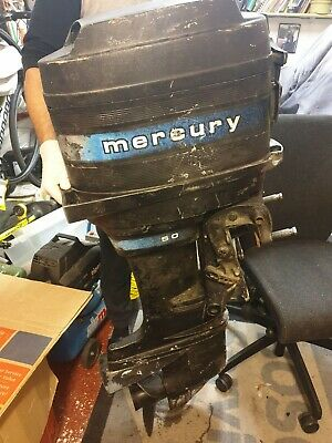 Mercury 50HP Outboard, Boat Engine , Fishing Boat, Power Boat Runs And Pumps. • 700£