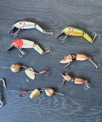 Vintage Fishing Lures 7 In Total Mixed Brands Mixed Lures • 0.99£