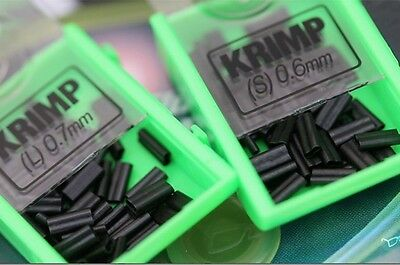 Korda NEW Fishing Spare Krimps Crimps Large 0.7mm *For Use With Krimping Pliers* • 5.49£