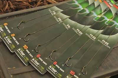 Korda NEW DF Rig Ready Pre Tied Carp Fishing Hair Rigs X3 *All Sizes & Types* • 6.50£