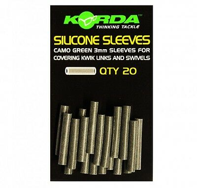 Korda Silicone Sleeves 3mm *Green Or Brown* NEW Carp Fishing • 3.99£