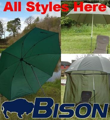Bison Top Tilt Umbrella Brolly Fishing Shelter All Styles Here. • 39.99£
