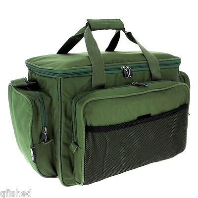 Carryall Holdall Tackle Bag - Insulated Carp Fishing Green Padded Bag With Strap • 22.30£
