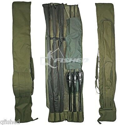 3+3 DELUXE ROD AND REEL HOLDALL BAG 12ft RODS CARP COARSE FISHING ROD BAG 618 • 29.16£