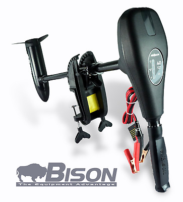 BISON 68'lb ELECTRIC OUTBOARD TROLLING MOTOR FREE SPARE PROPELLER & CHARGER • 184.99£