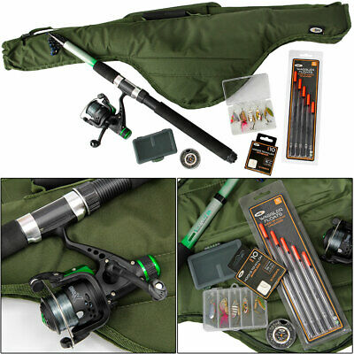 Telescopic Fishing Rod And Reel Set 6,8,10ft Choose Rod Size Travel Set • 31.70£