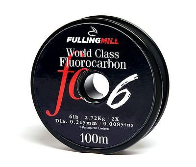 Fulling Mill World Class Fluorocarbon Tippet Line 100m All Breaking Strains • 9.75£