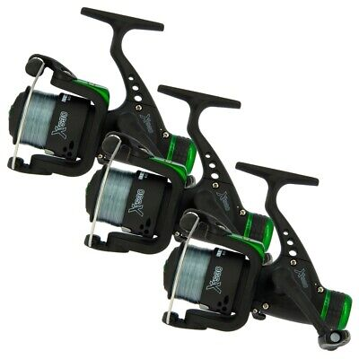 3 X Fishing Reels Feeder Coarse Float Spinning Fishing Reel With 8lb Line XTS30 • 19.95£