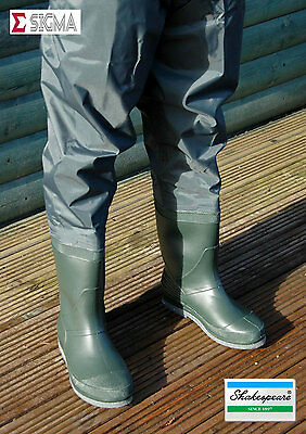 Clearance Shakespeare Sigma Felt Sole Nylon Hip Thigh Waders Sizes 7-12 • 9.99£