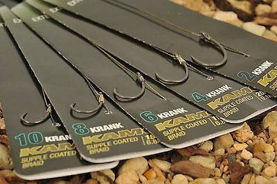 Korda NEW Krank Hook Rig Ready Pre Tied Carp Fishing Rigs X3 *All Sizes & Types* • 6.50£