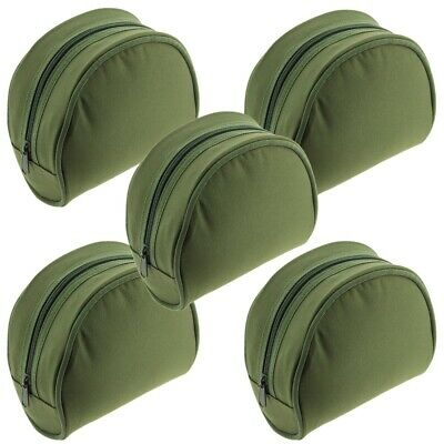 5 X New Green Fishing Reel Cases For Coarse Carp Fishing Reels Tackle NGT • 19.56£