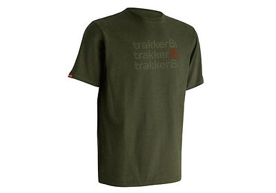 Trakker NEW Fishing Green Duo Tone Aztec Print Tee T Shirt *All Sizes* • 17.99£